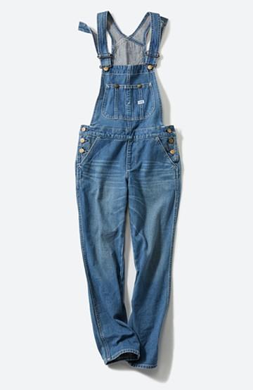 haco! Lee 胸ポケットのテーパードオーバーオール <ライトインディゴブルー>の商品写真