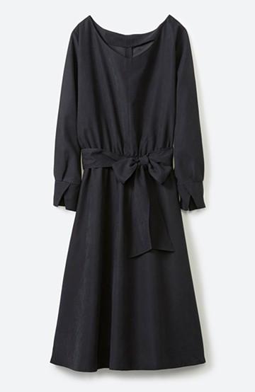 haco! 着るだけで女っぽく見える&後ろ前どちらも着られる ウエストリボンワンピース <ブラック>の商品写真
