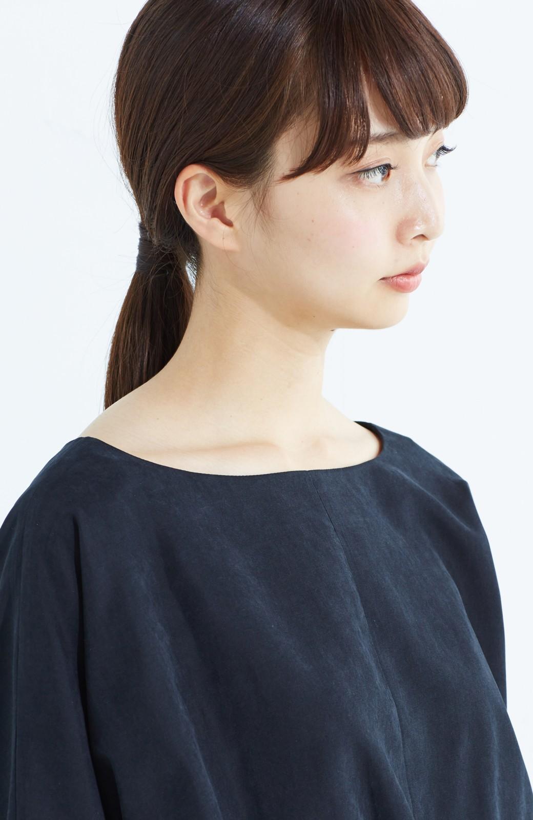 haco! 着るだけで女っぽく見える&後ろ前どちらも着られる ウエストリボンワンピース <ブラック>の商品写真22