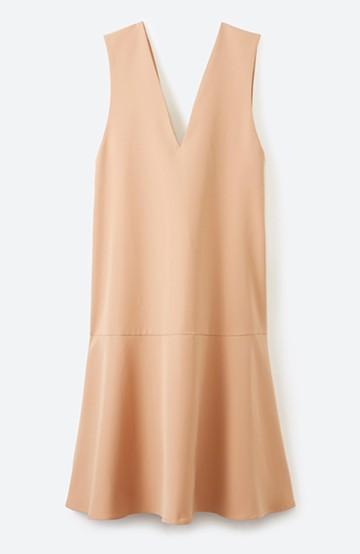 haco! パッと着て今気分&長い季節着られる すそフレアージャンパースカート <ベージュ>の商品写真
