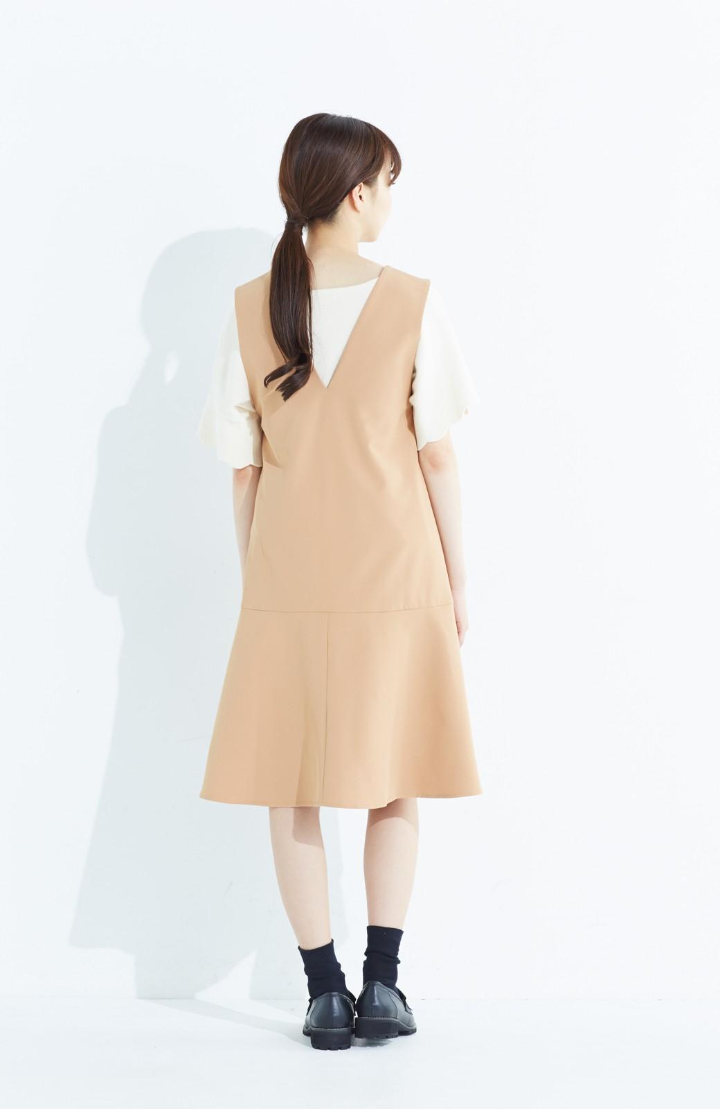 haco! パッと着て今気分&長い季節着られる すそフレアージャンパースカート <ベージュ>の商品写真12