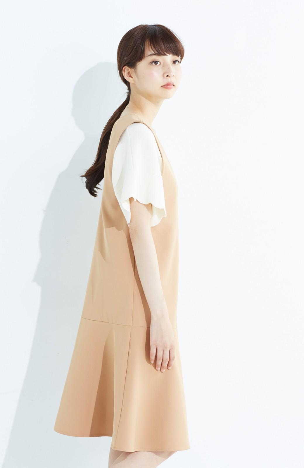 haco! パッと着て今気分&長い季節着られる すそフレアージャンパースカート <ベージュ>の商品写真16