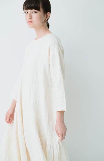 haco! てとひとて miho umezawa ツイルリネンアシンメトリードレス <オフホワイト>の商品写真