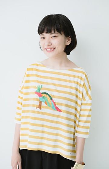 haco! Stitch by Stitch 刺しゅうを楽しむボーダーTシャツ<とり> <その他>の商品写真