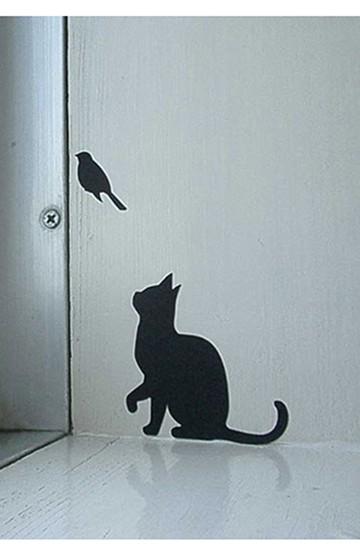 haco! Wall Storyシール CAT LIFE  <ブラック>の商品写真