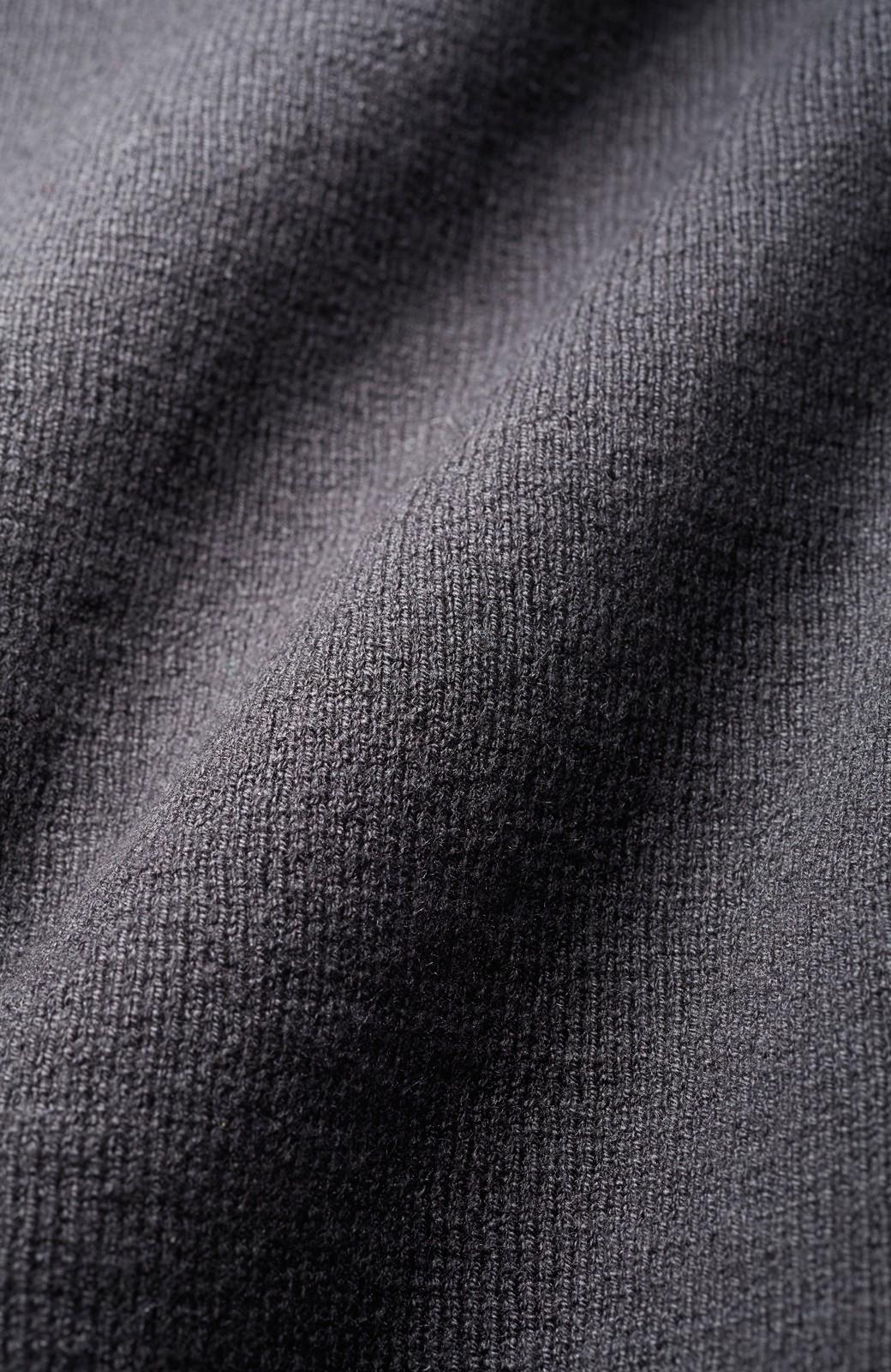 haco! 季節の変わり目にも便利な ミラノリブのギャザースリーブニット <ブラック>の商品写真2