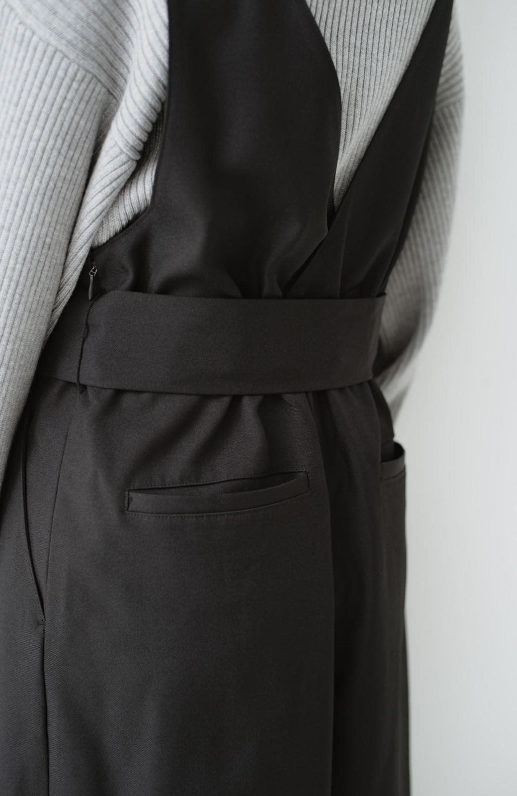 haco! Vネック&ウエストリボンの女っぽオールインワン <ブラック>の商品写真21