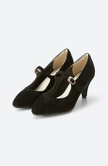 haco! 靴下と合わせてもかわいい ストラップパンプス <ブラック>の商品写真