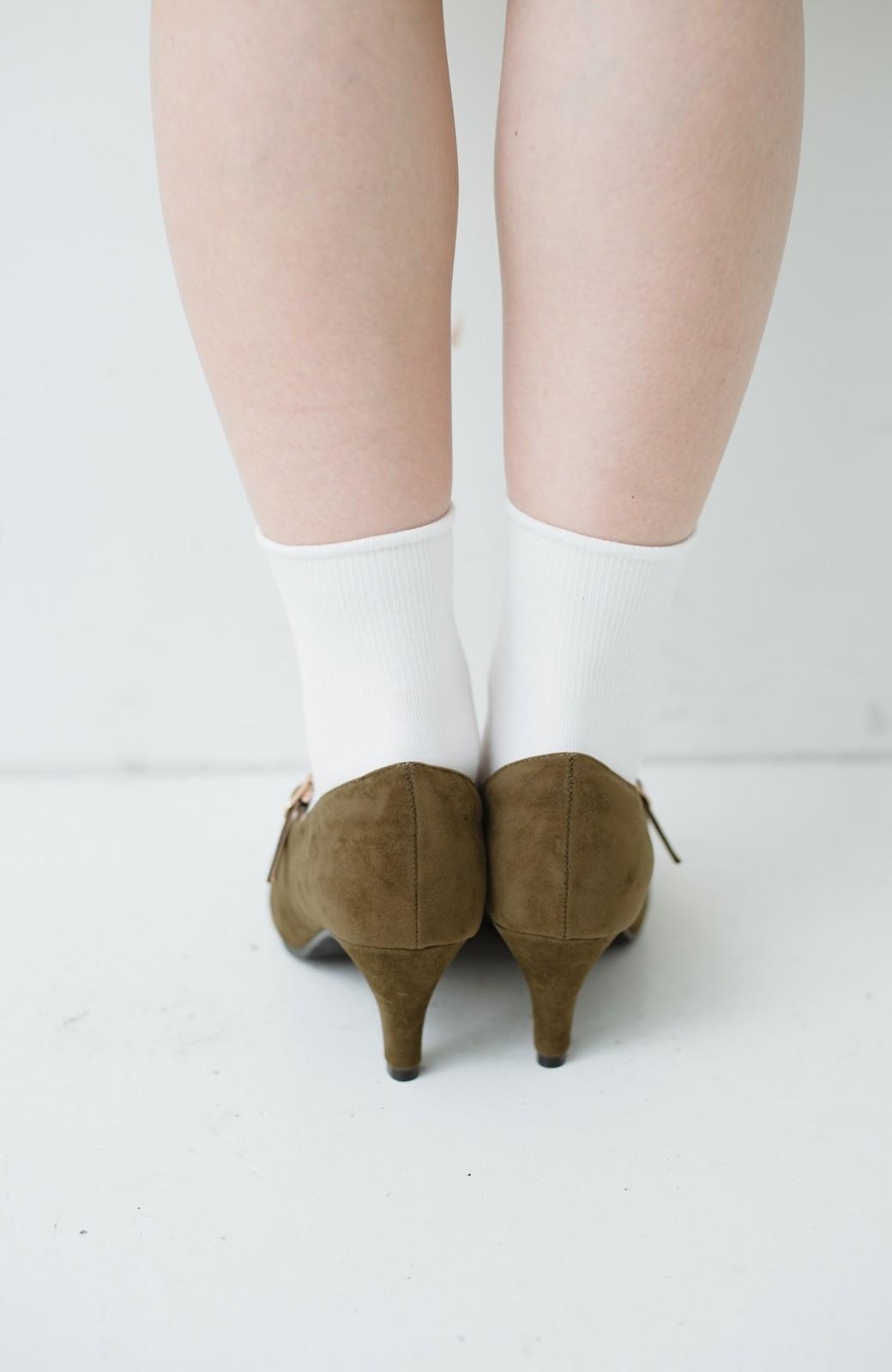 haco! 靴下と合わせてもかわいい ストラップパンプス <カーキ>の商品写真6