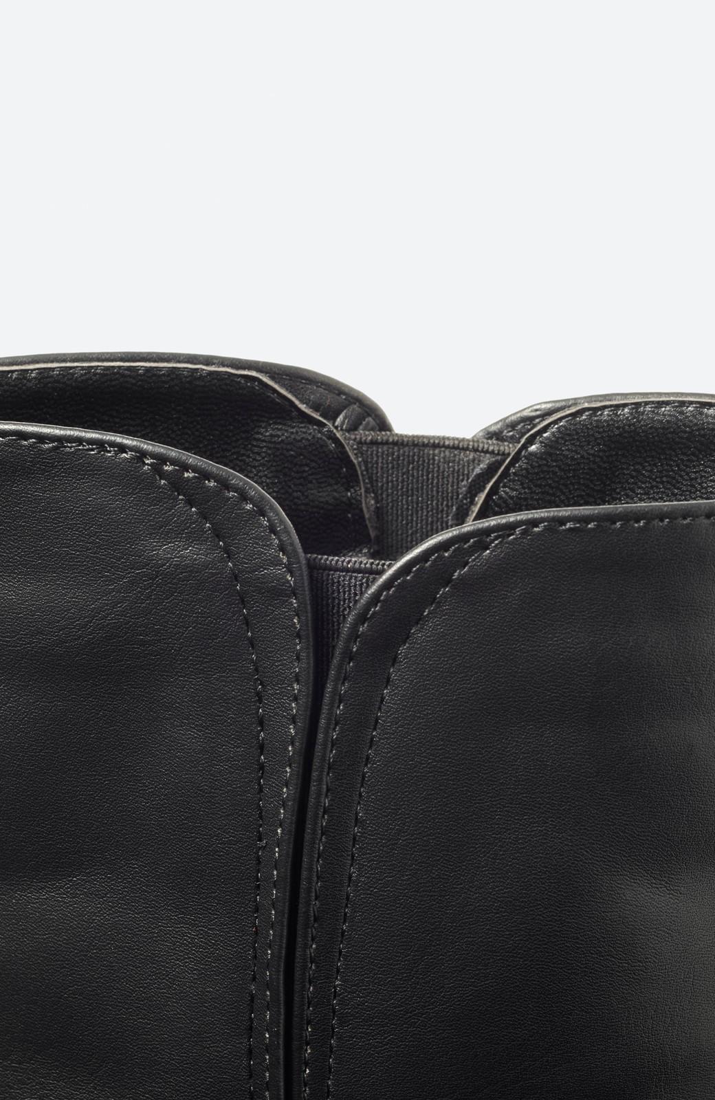 haco! 女っぽくきれいに見える 隠れサイドゴアブーツ <ブラック>の商品写真2