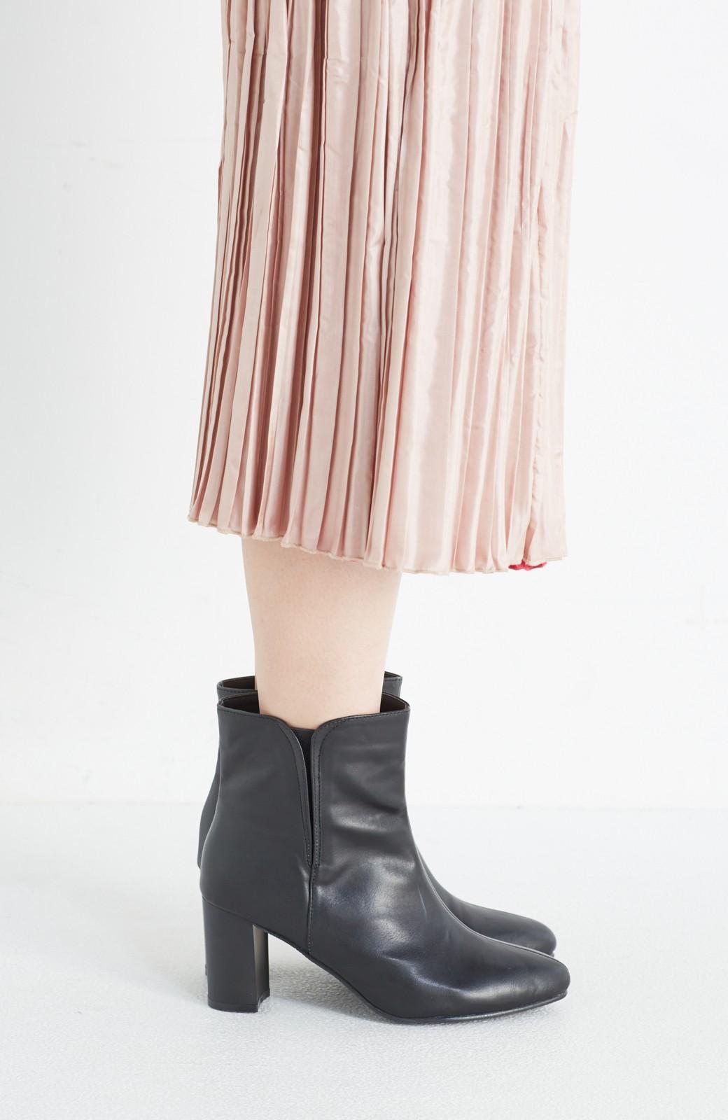 haco! 女っぽくきれいに見える 隠れサイドゴアブーツ <ブラック>の商品写真4