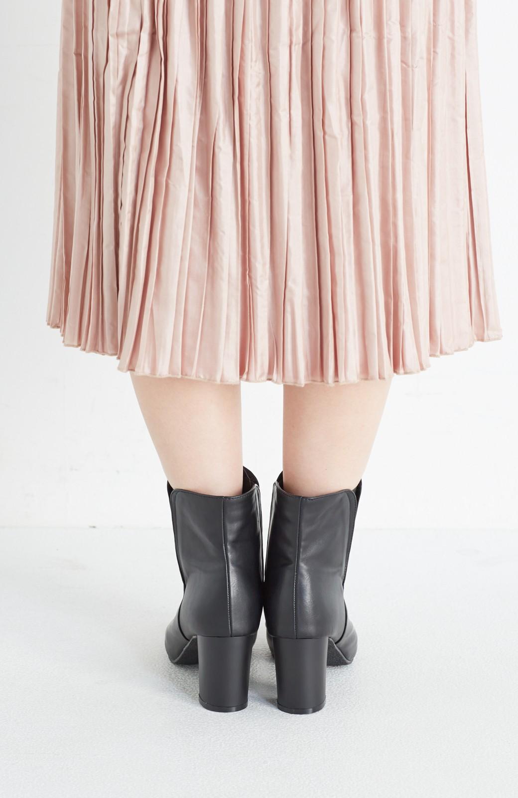 haco! 女っぽくきれいに見える 隠れサイドゴアブーツ <ブラック>の商品写真7