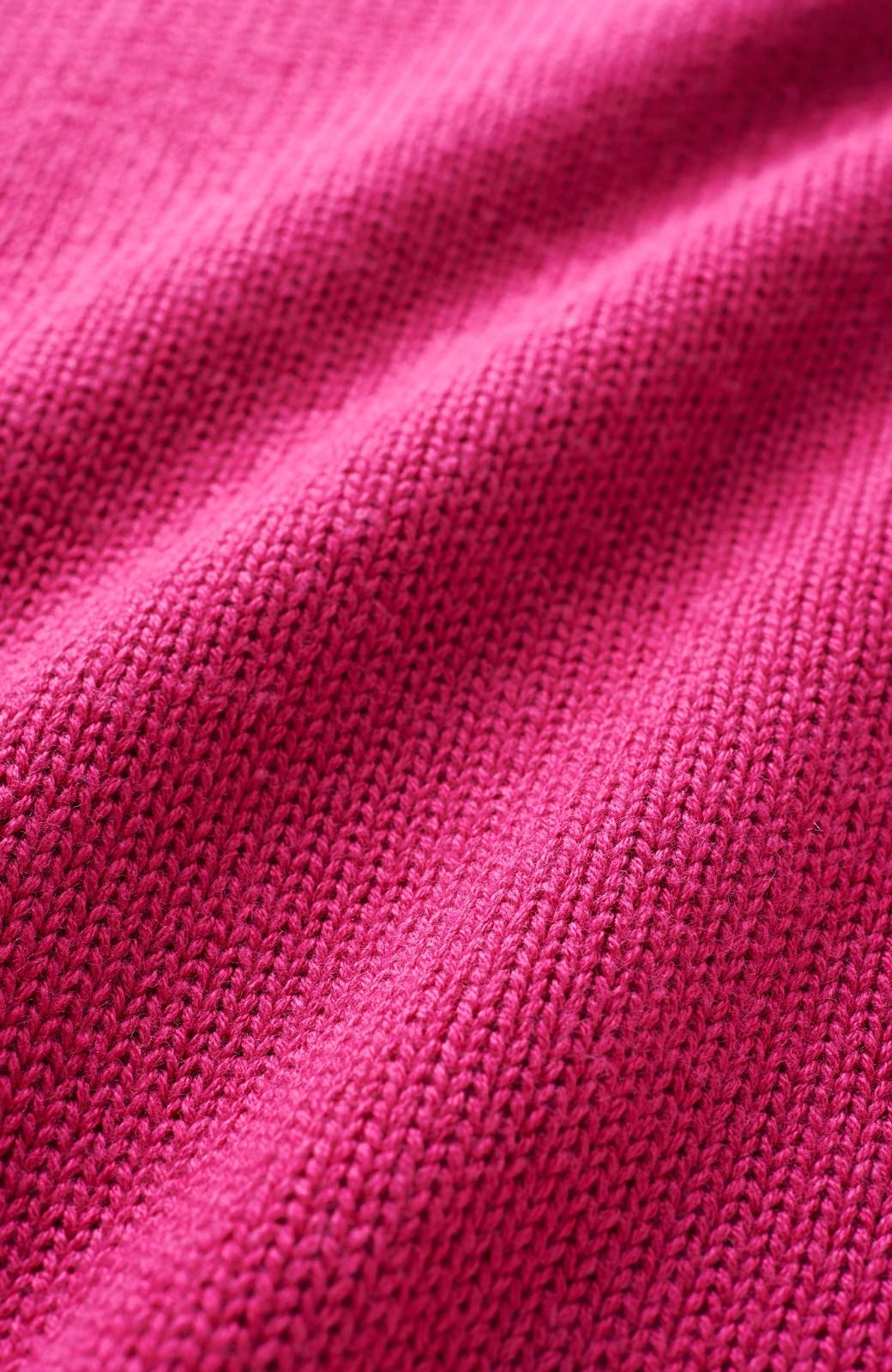 haco! 迷った朝に間違いない Vネックの女っぽゆるニット <ピンク>の商品写真2