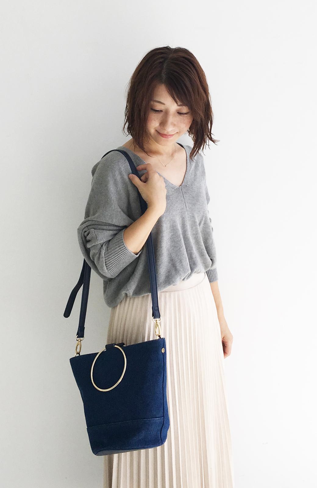 haco! リングバケツ型バッグ <ブルー>の商品写真6