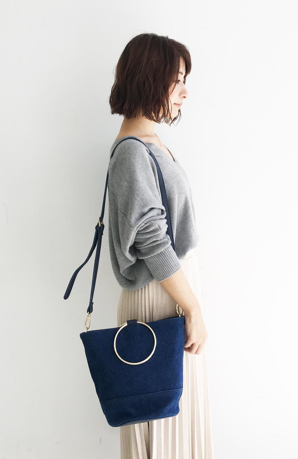 haco! リングバケツ型バッグ <ブルー>の商品写真1