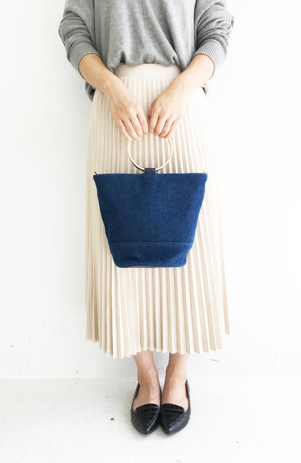 haco! リングバケツ型バッグ <ブルー>の商品写真7