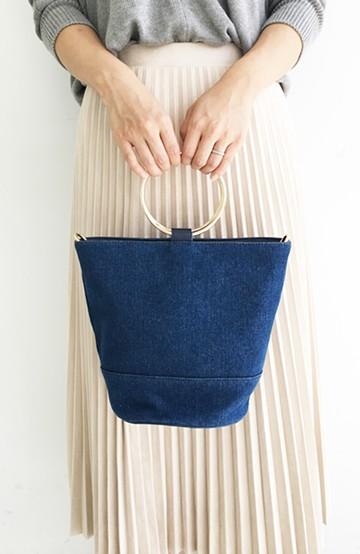 haco! リングバケツ型バッグ <ブルー>の商品写真