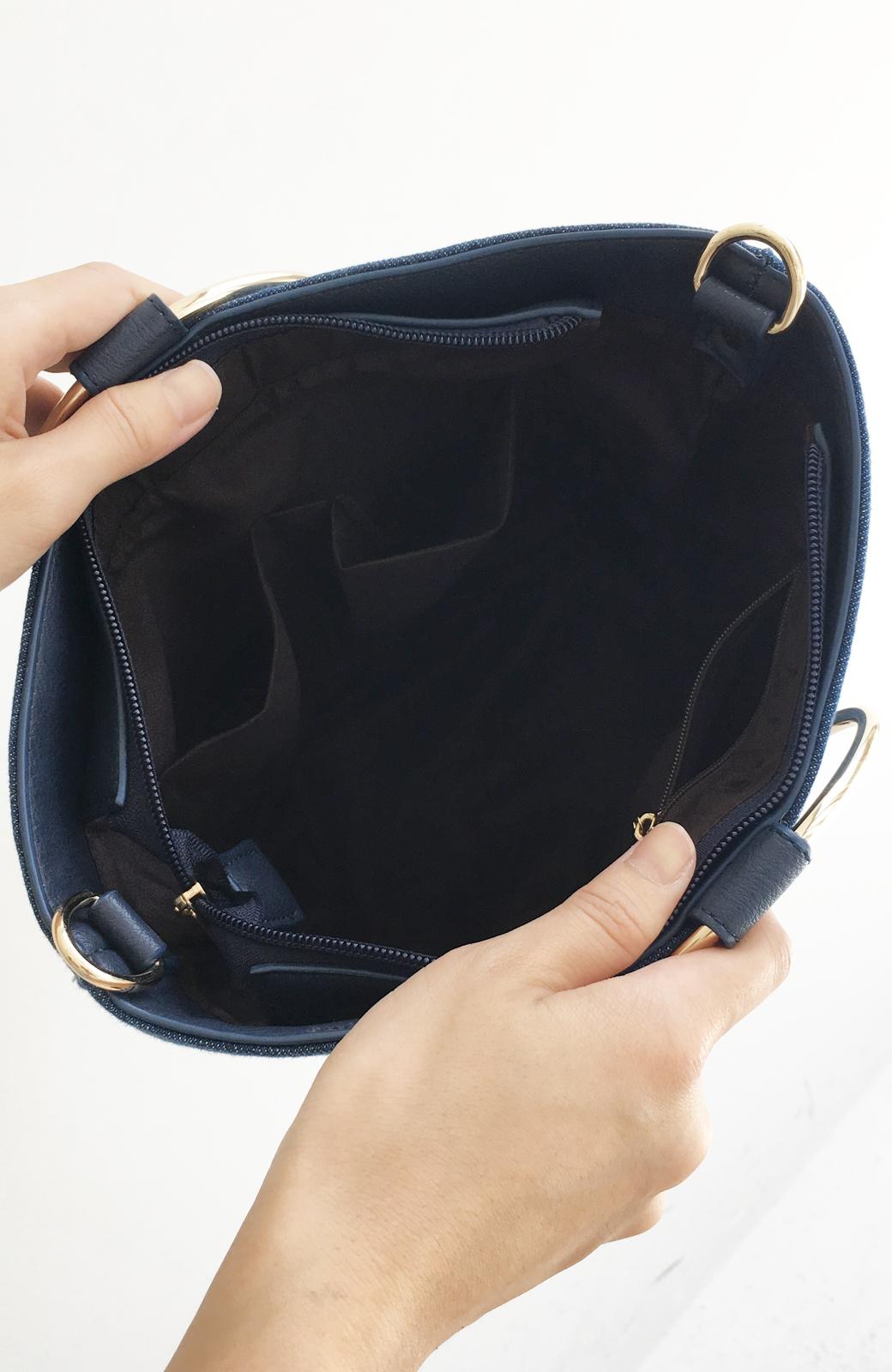 haco! リングバケツ型バッグ <ブルー>の商品写真5