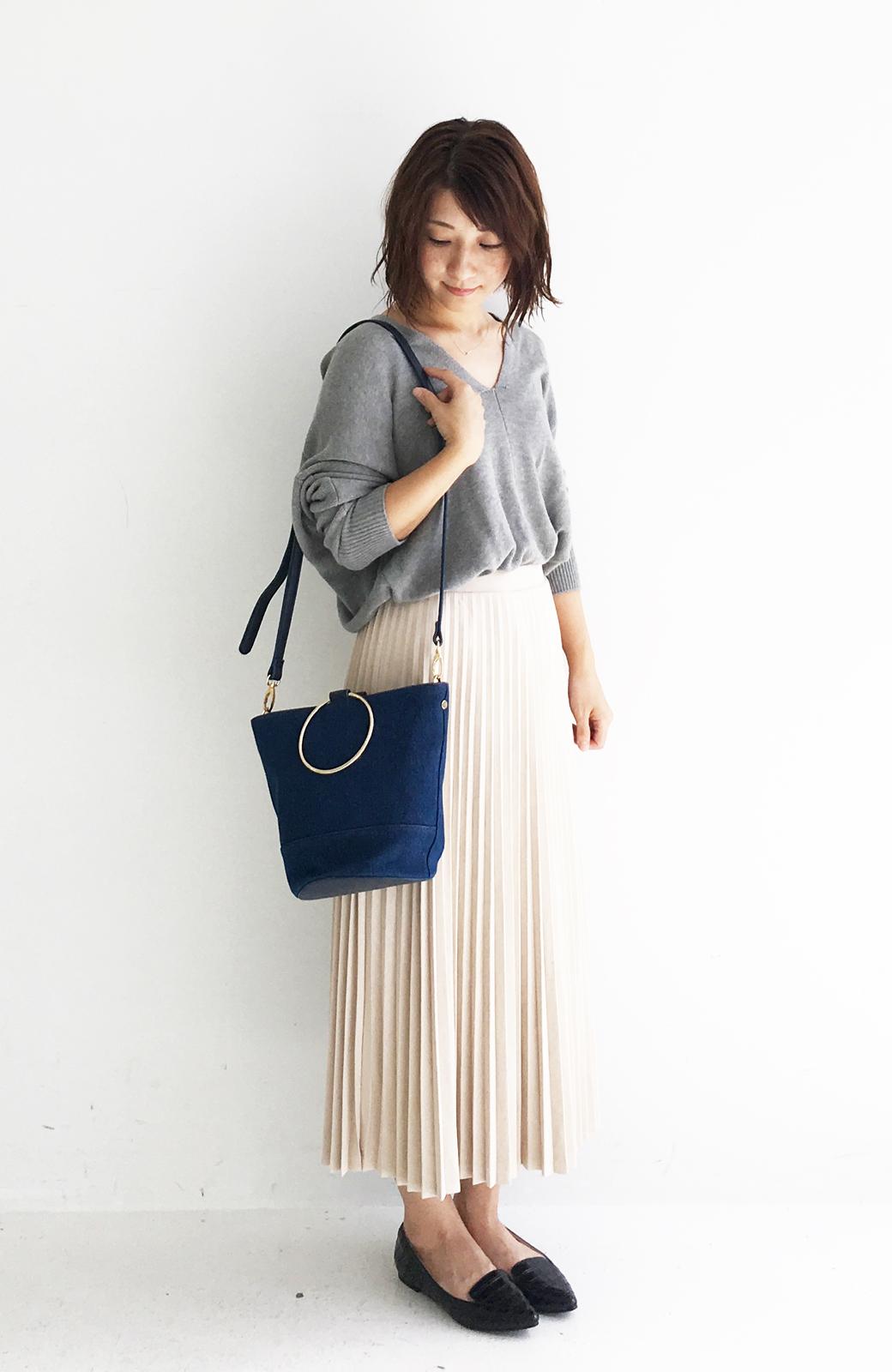 haco! リングバケツ型バッグ <ブルー>の商品写真8