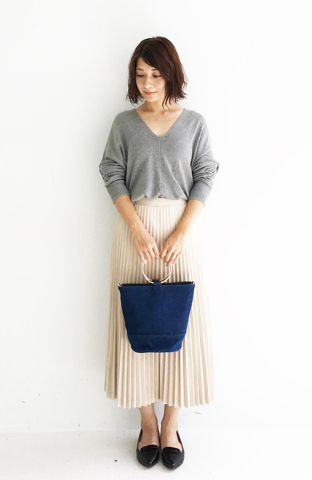 haco! リングバケツ型バッグ <ブルー>の商品写真10