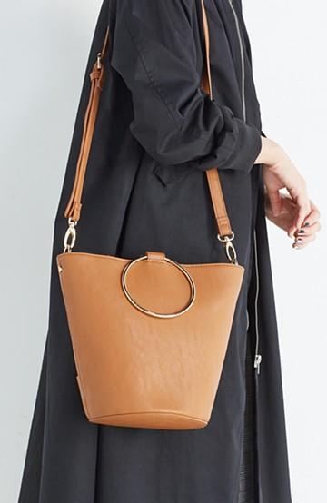 haco! リングバケツ型バッグ <キャメル>の商品写真