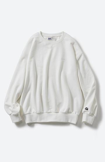 haco! Lee 刺しゅうロゴのスウェットロングTシャツ <ホワイト>の商品写真