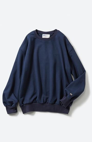 haco! Lee 刺しゅうロゴのスウェットロングTシャツ <ネイビー>の商品写真