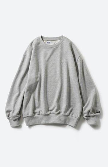 haco! Lee 刺しゅうロゴのスウェットロングTシャツ <杢グレー>の商品写真