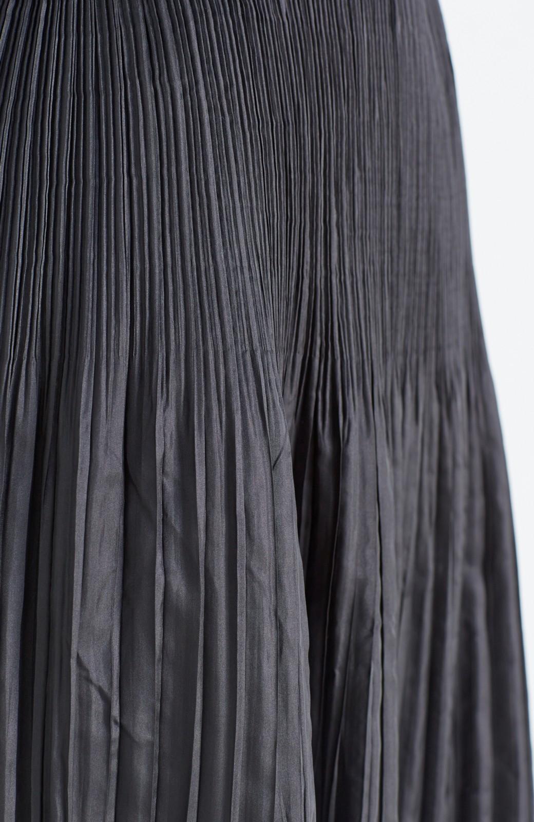 haco! 予定に合わせて楽しめる 旅にベンリなランダムプリーツリバーシブルスカート <ブラック系その他>の商品写真6