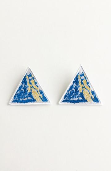 haco! てとひとて SAWAKO NINOMIYA Mt.Everest ピアス <ブルー>の商品写真