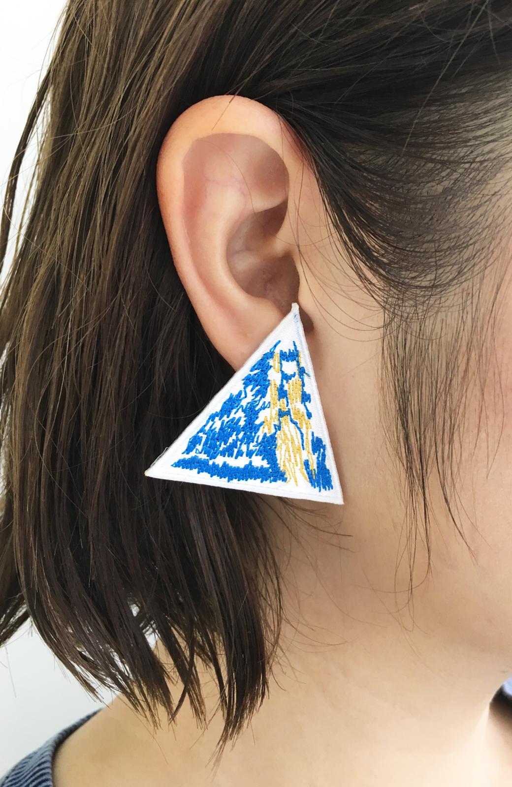 haco! てとひとて SAWAKO NINOMIYA Mt.Everest ピアス <ブルー>の商品写真3