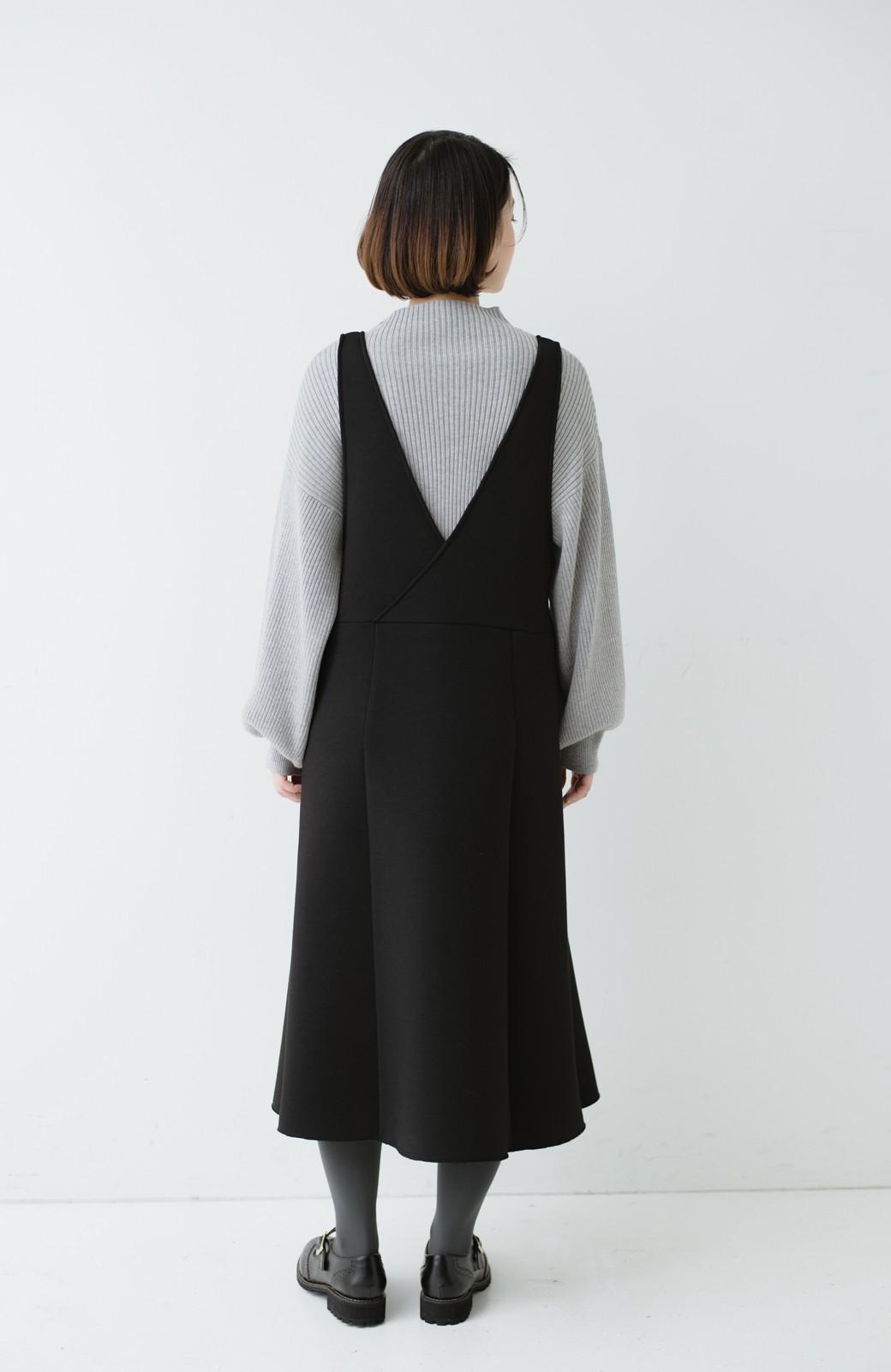 haco! ふんわり感がレトロ可愛い フレアージャンパースカート <ブラック>の商品写真10