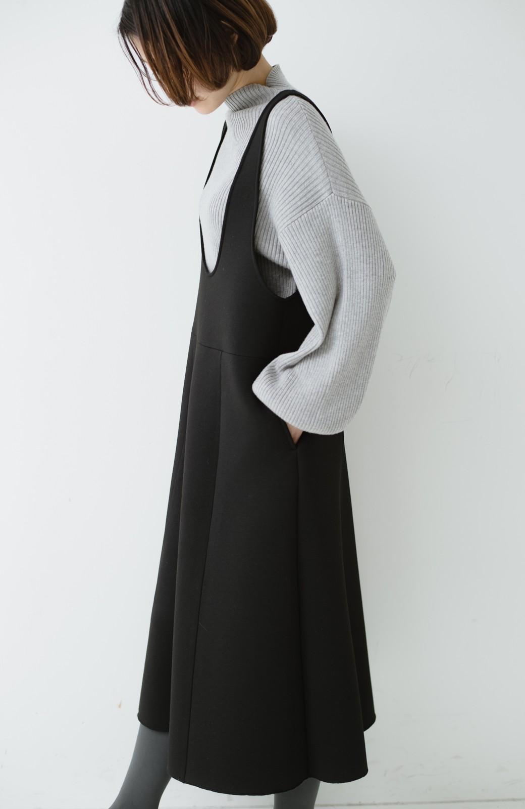 haco! ふんわり感がレトロ可愛い フレアージャンパースカート <ブラック>の商品写真14