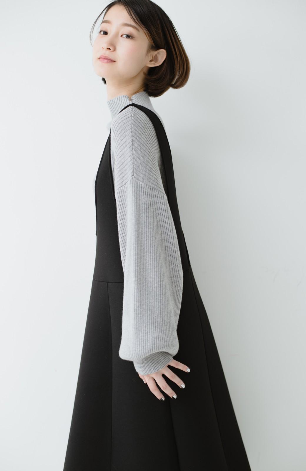 haco! ふんわり感がレトロ可愛い フレアージャンパースカート <ブラック>の商品写真15