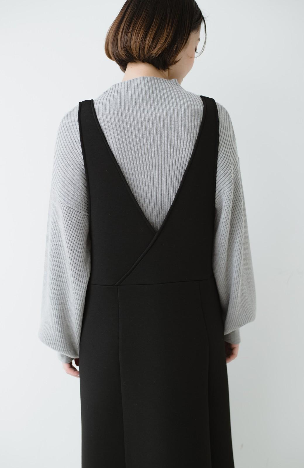 haco! ふんわり感がレトロ可愛い フレアージャンパースカート <ブラック>の商品写真17