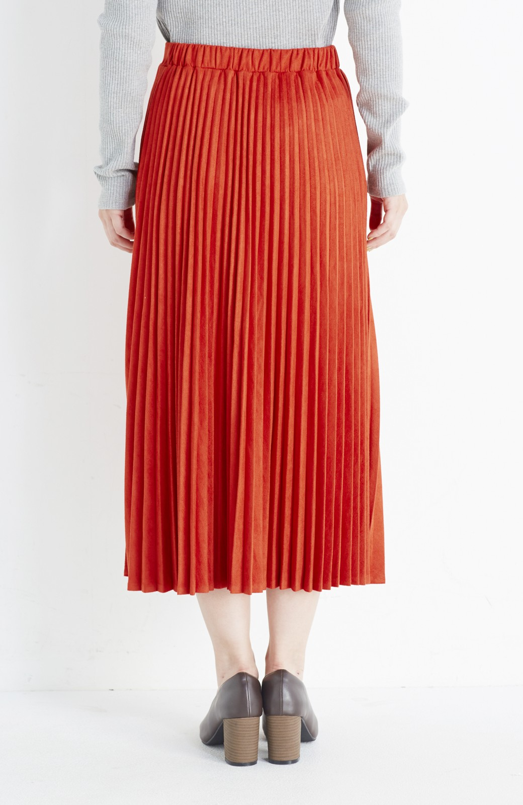 haco! 楽して女っぽい フェイクスエードのプリーツスカート  by que made me <オレンジ系その他>の商品写真5