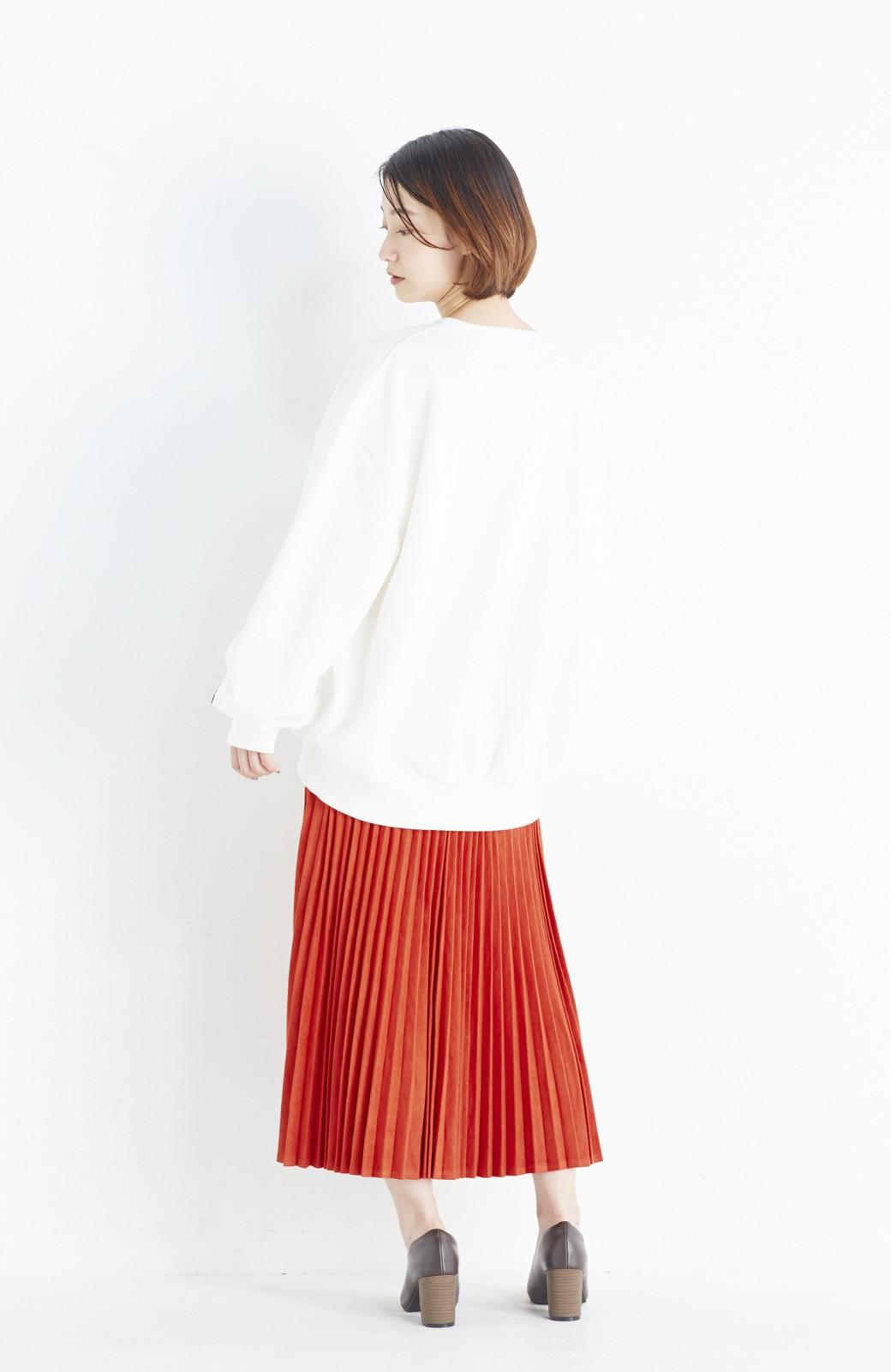 haco! 楽して女っぽい フェイクスエードのプリーツスカート  by que made me <オレンジ系その他>の商品写真9