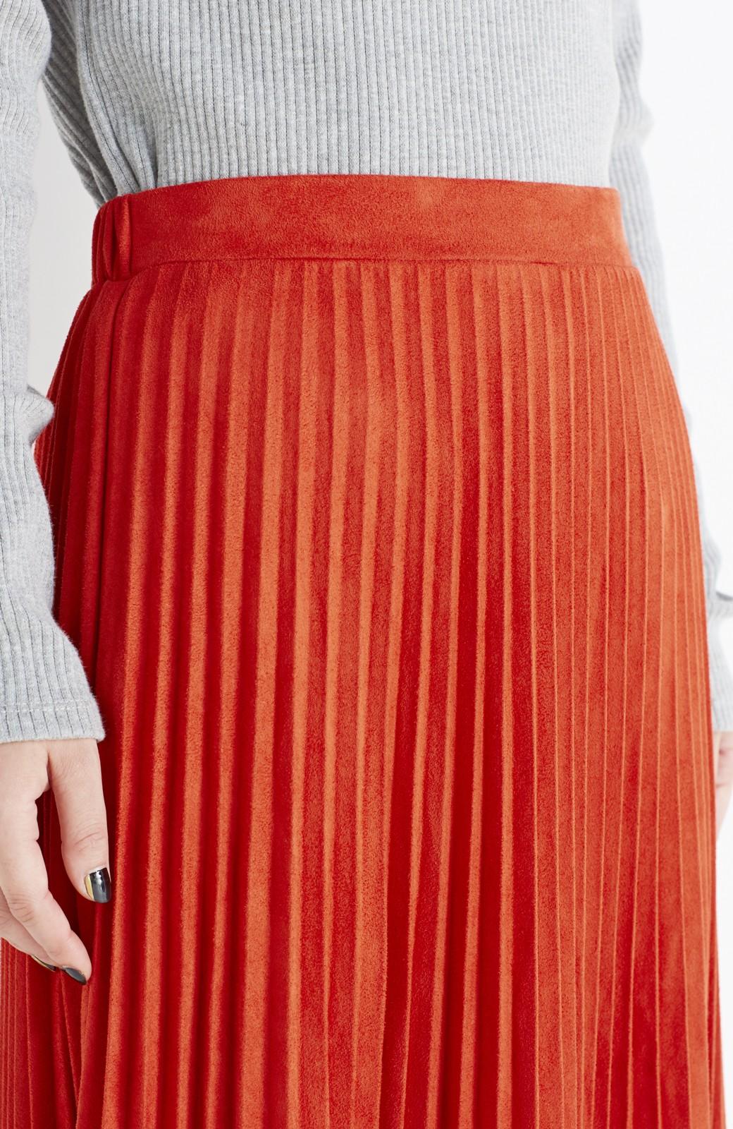 haco! 楽して女っぽい フェイクスエードのプリーツスカート  by que made me <オレンジ系その他>の商品写真10