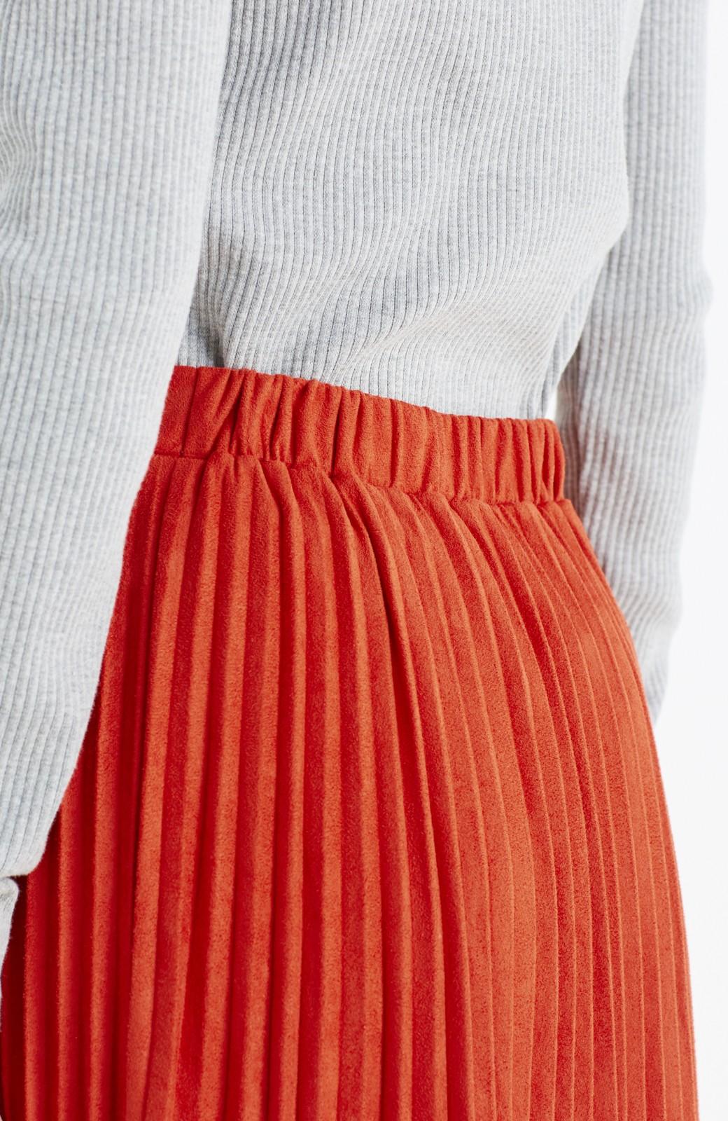 haco! 楽して女っぽい フェイクスエードのプリーツスカート  by que made me <オレンジ系その他>の商品写真11