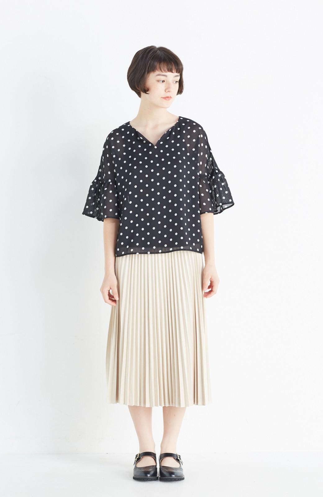 haco! 楽して女っぽい フェイクスエードのプリーツスカート  by que made me <ライトベージュ>の商品写真8