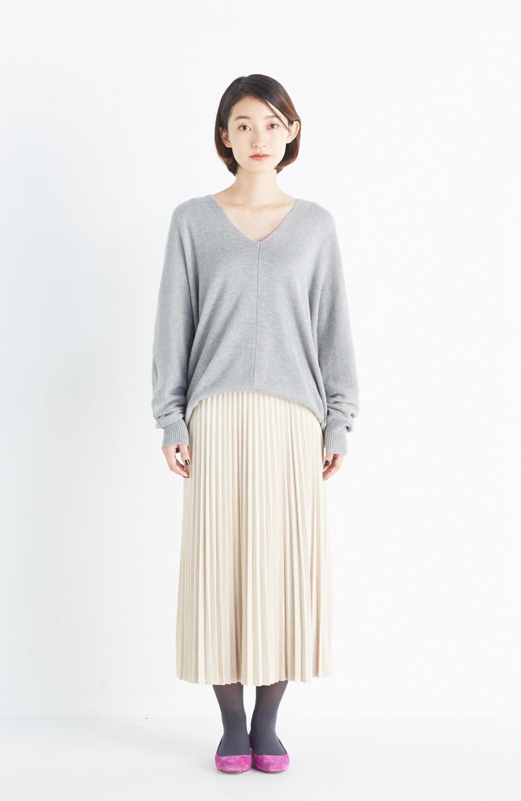 haco! 楽して女っぽい フェイクスエードのプリーツスカート  by que made me <ライトベージュ>の商品写真10