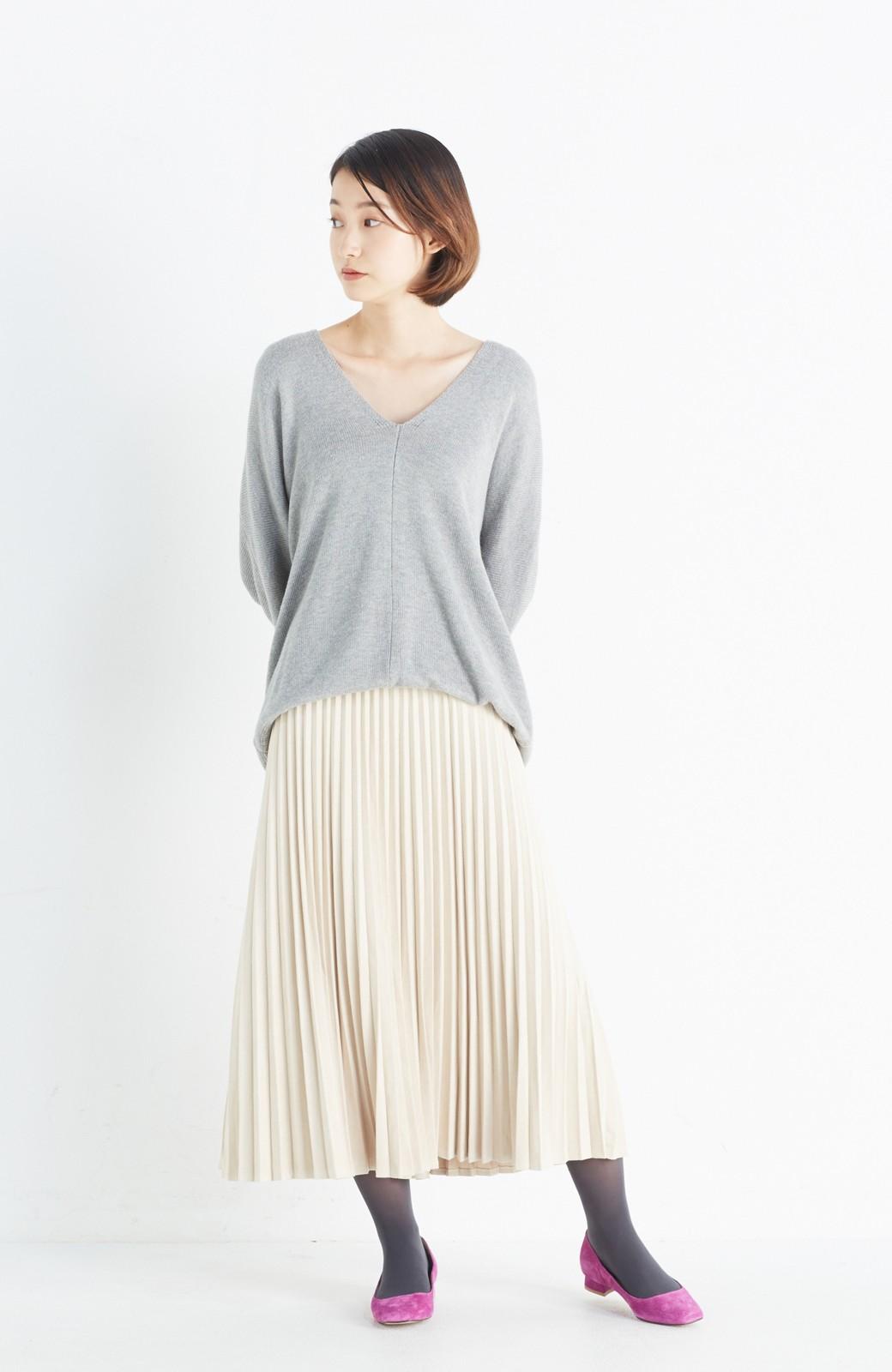 haco! 楽して女っぽい フェイクスエードのプリーツスカート  by que made me <ライトベージュ>の商品写真11