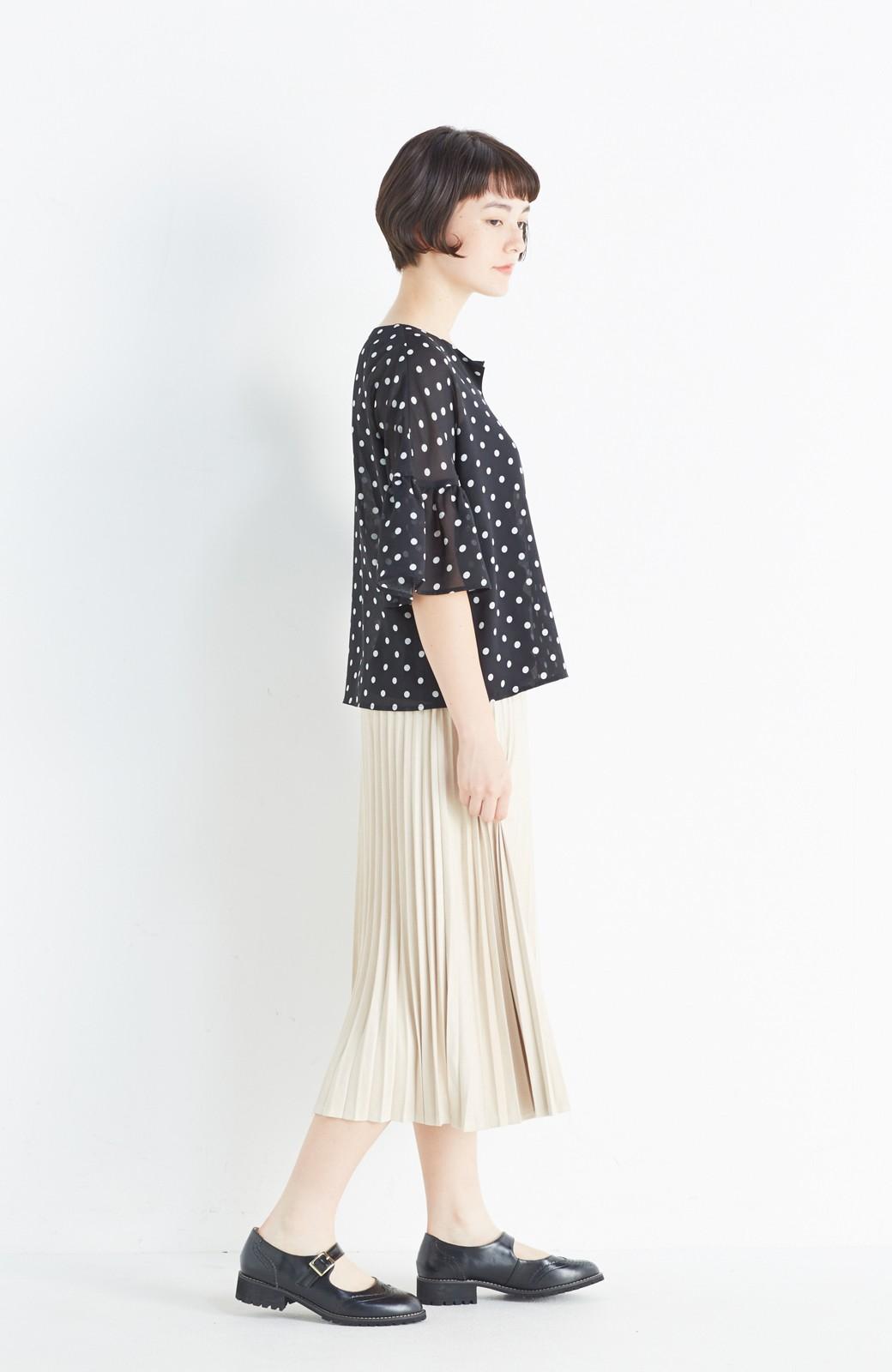 haco! 楽して女っぽい フェイクスエードのプリーツスカート  by que made me <ライトベージュ>の商品写真13