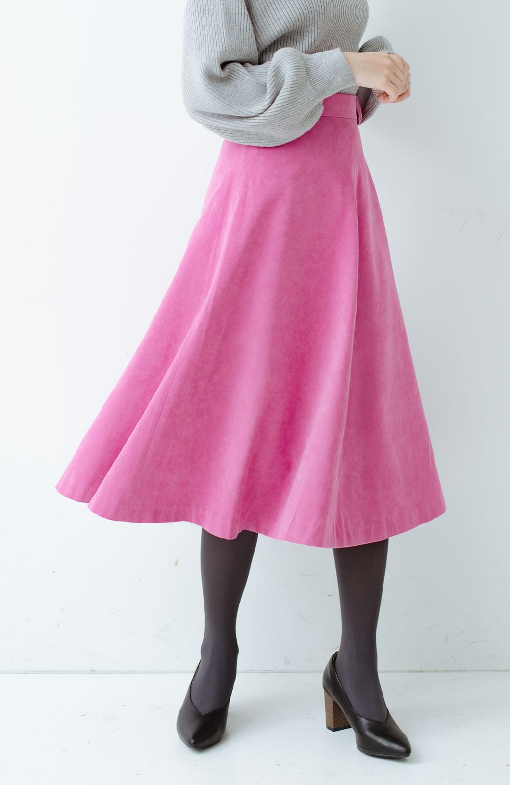 haco! 女っぽく上品に見える フレアースカート by que made me <ピンク>の商品写真2