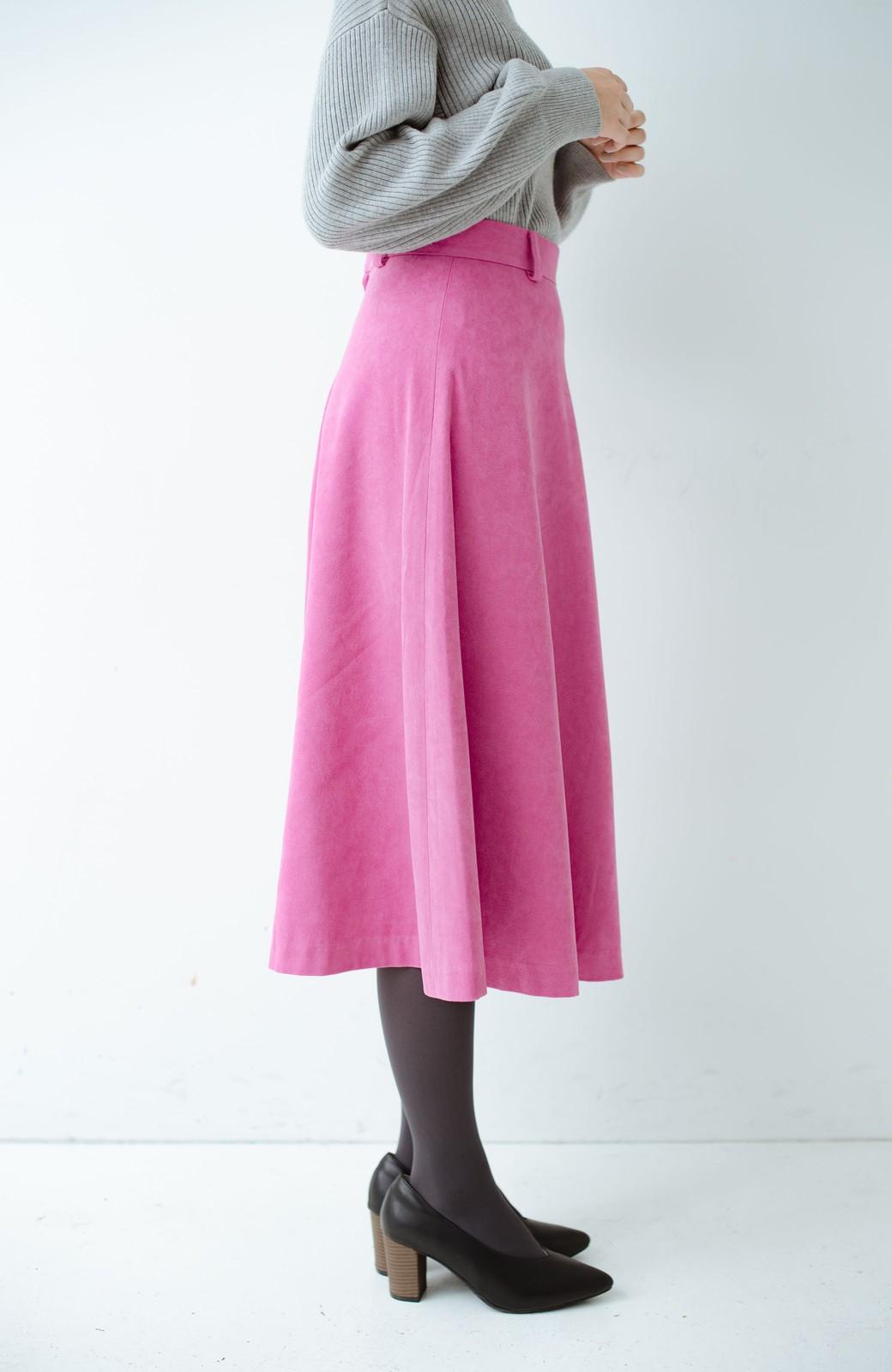 haco! 女っぽく上品に見える フレアースカート by que made me <ピンク>の商品写真3
