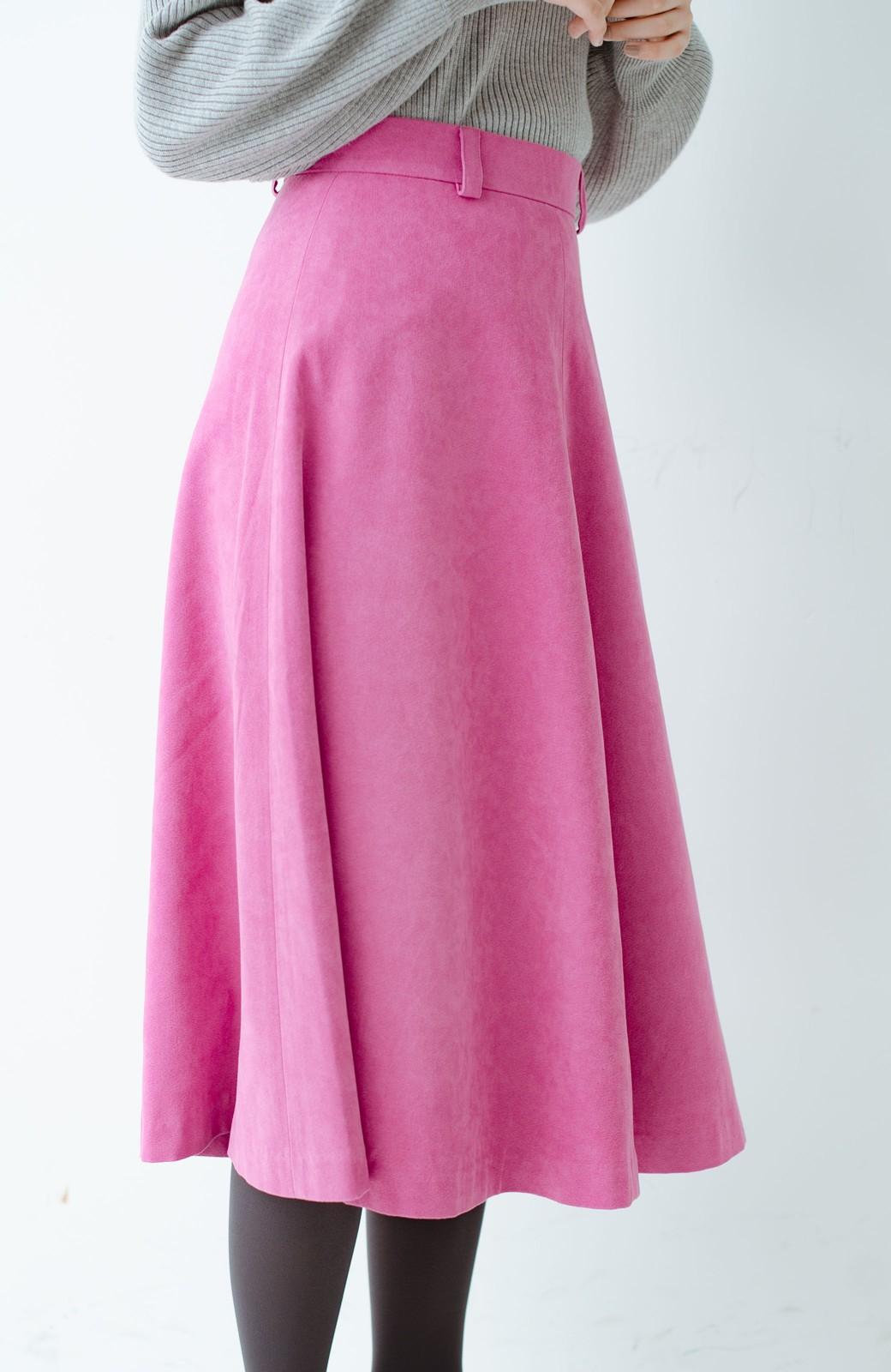 haco! 女っぽく上品に見える フレアースカート by que made me <ピンク>の商品写真5