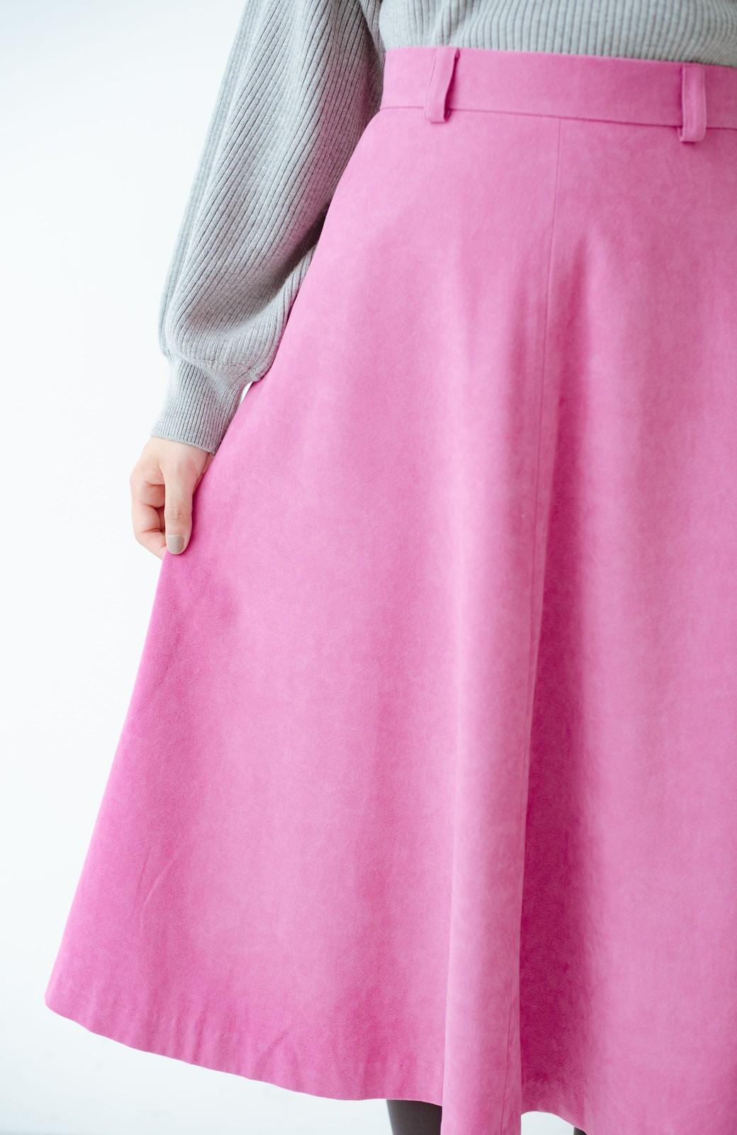 haco! 女っぽく上品に見える フレアースカート by que made me <ピンク>の商品写真6