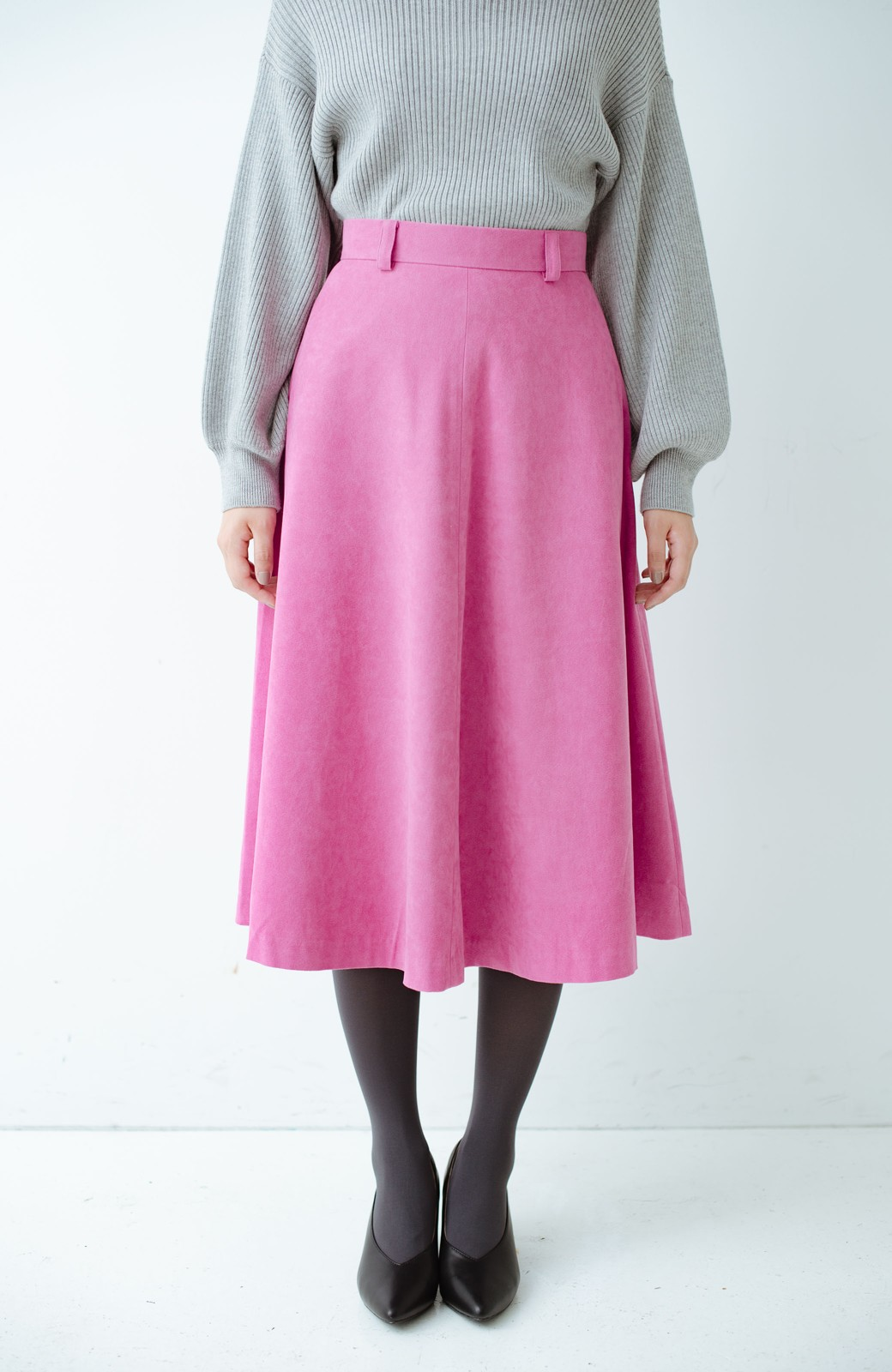 haco! 女っぽく上品に見える フレアースカート by que made me <ピンク>の商品写真1