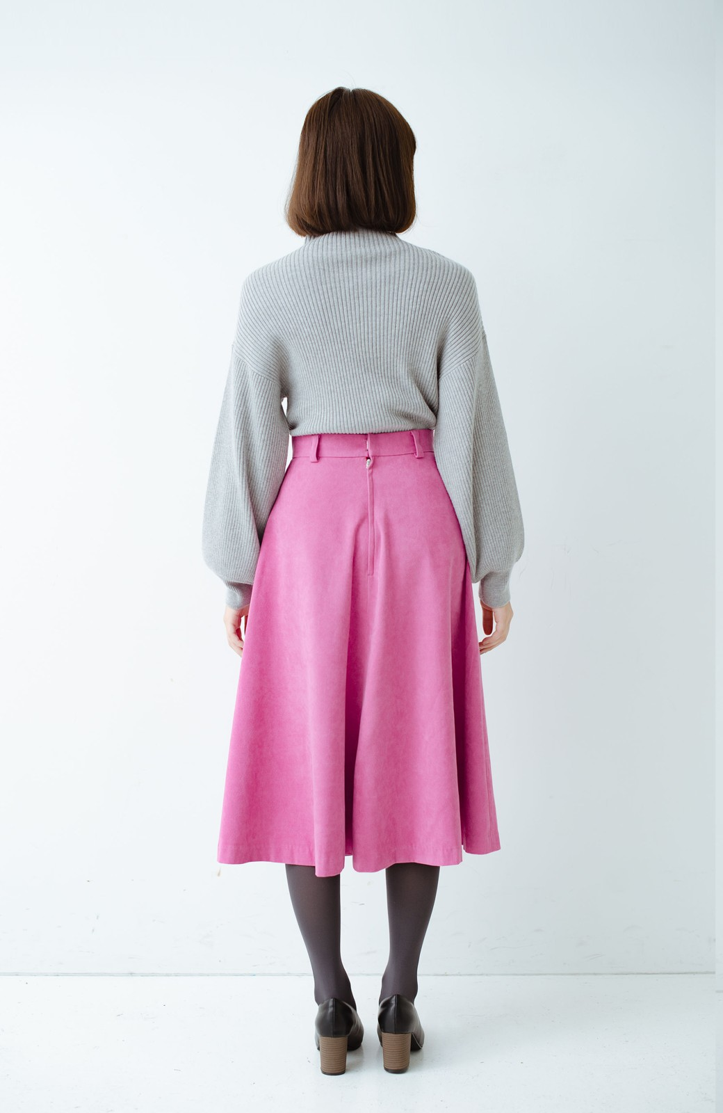 haco! 女っぽく上品に見える フレアースカート by que made me <ピンク>の商品写真12