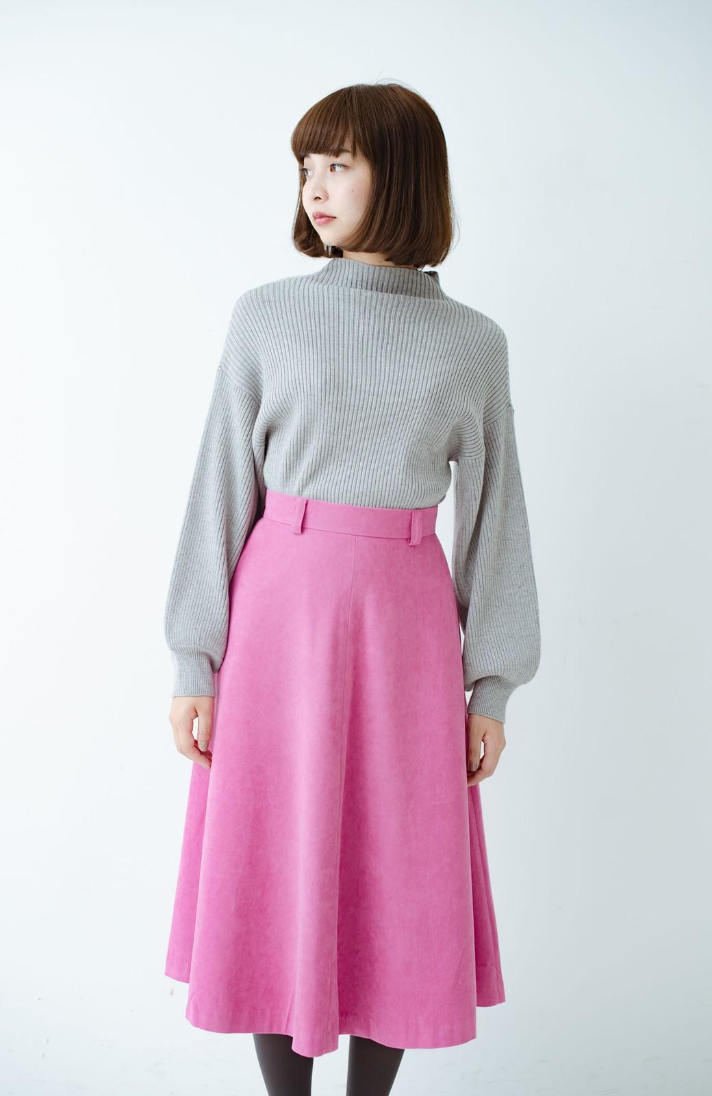 haco! 女っぽく上品に見える フレアースカート by que made me <ピンク>の商品写真13